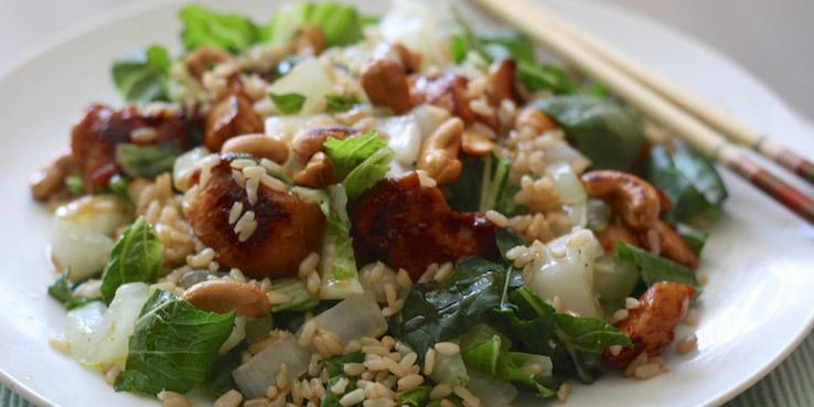 Chinese Kip met rijst en paksoi