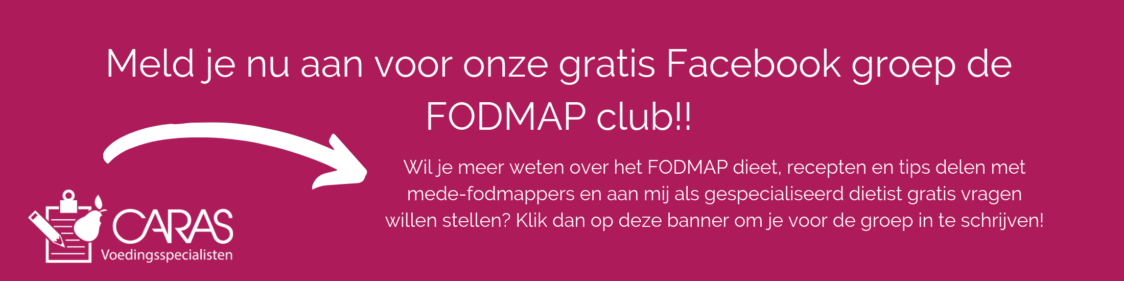 Meld je nu aan voor onze gratis Facebook groep de FODMAP club